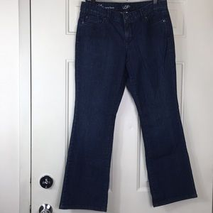 Loft, Dark Wash, Curvy Boot Cut, Size 10.